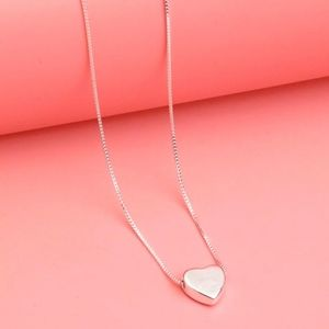 🌹New 925 Sterling Silver Plated Heart Necklace